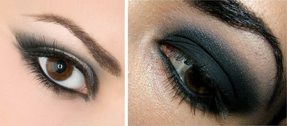smoke eyes, дымчатый макияж, смоки айс