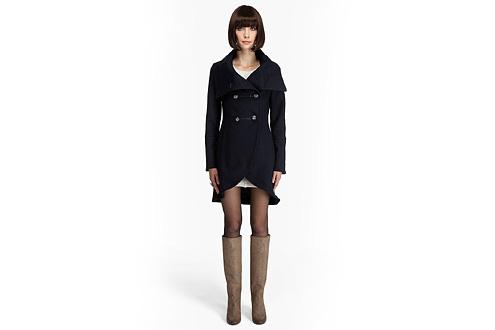 модное двубортное пальто 2011