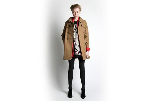 модное распашное пальто 2011